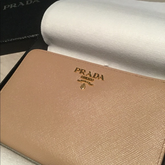 online here new collection new selection Prada Medium Saffiano Tab Wallet